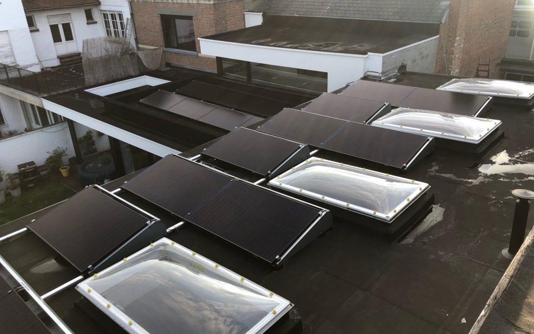 Zonnepanelen Plat dak Marke